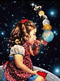 art psych girl bubbles universe